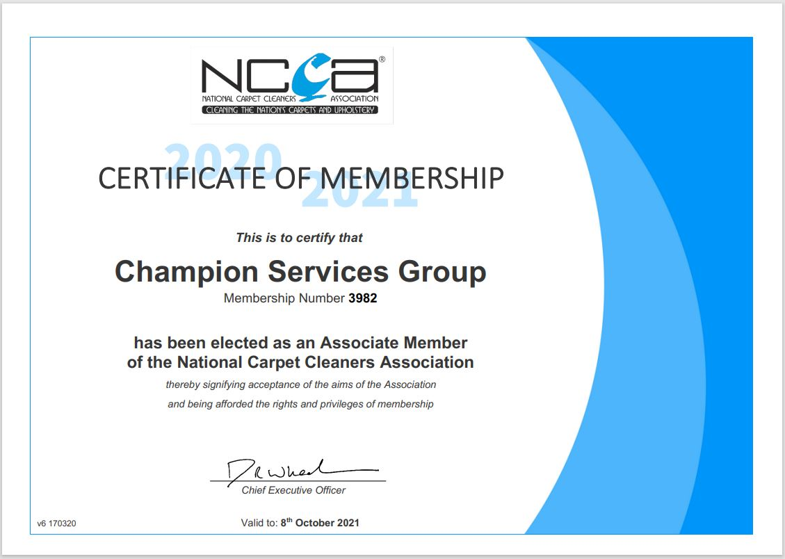 carpet cleaning ncca certificate fully